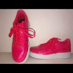Hot pink Air Force ones